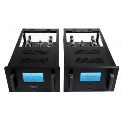 Her ser du M600 - 300B Mono Black Power Amplifiers (300B tubes not inc.) pair fra Canary Audio
