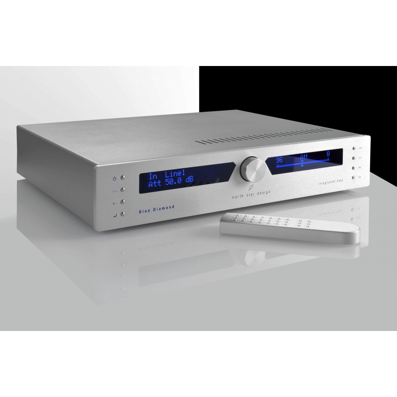 Her ser du Blue Diamond Integrated amplifier fra North Star Design