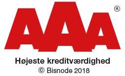 LydProdukter har AAA rating hos Bisnode